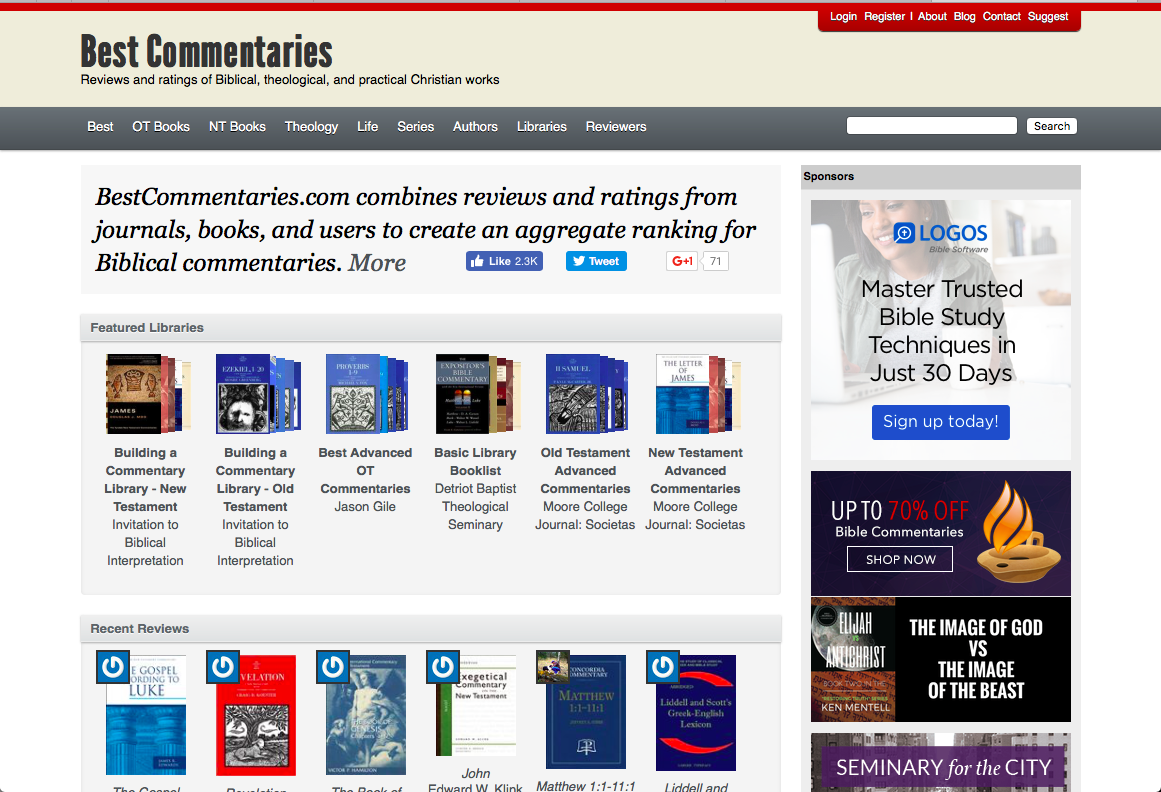 Bible Commentaries – For All Things Bible