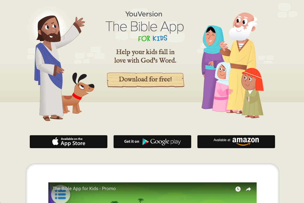 The Bible App for Kids – For All Things Bible