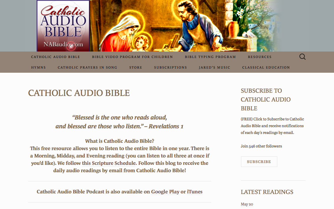 Catholic Audio Bible – For All Things Bible