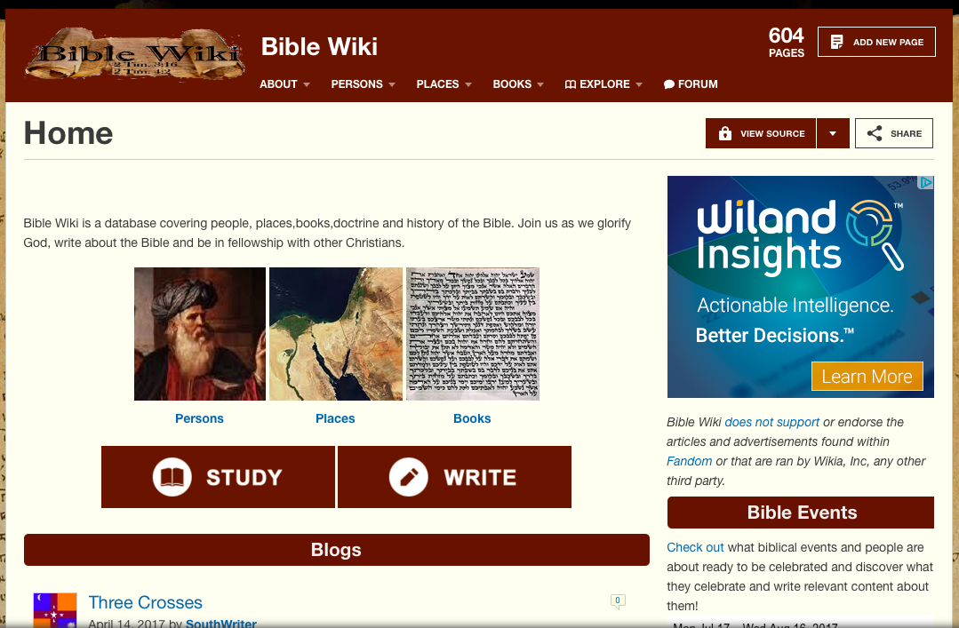 Bible Wiki – For All Things Bible