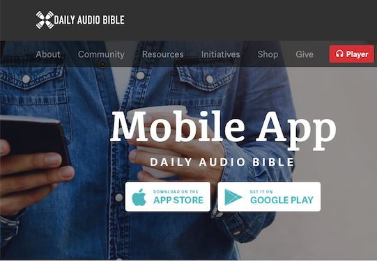 Daily Audio Bible – For All Things Bible